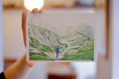 大窪美咲 イラスト展『青い、青い山』2021.5.1~5.30